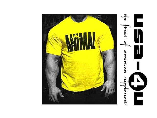 Animal Shirt Universal Nutrition Iconic Yellow